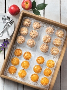 Apple Crumble and Pineapple Almond Tartlets