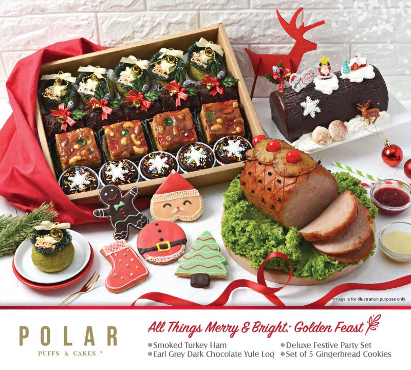 All Things Merry Bright Golden Feast Polar Puffs Cakes Online