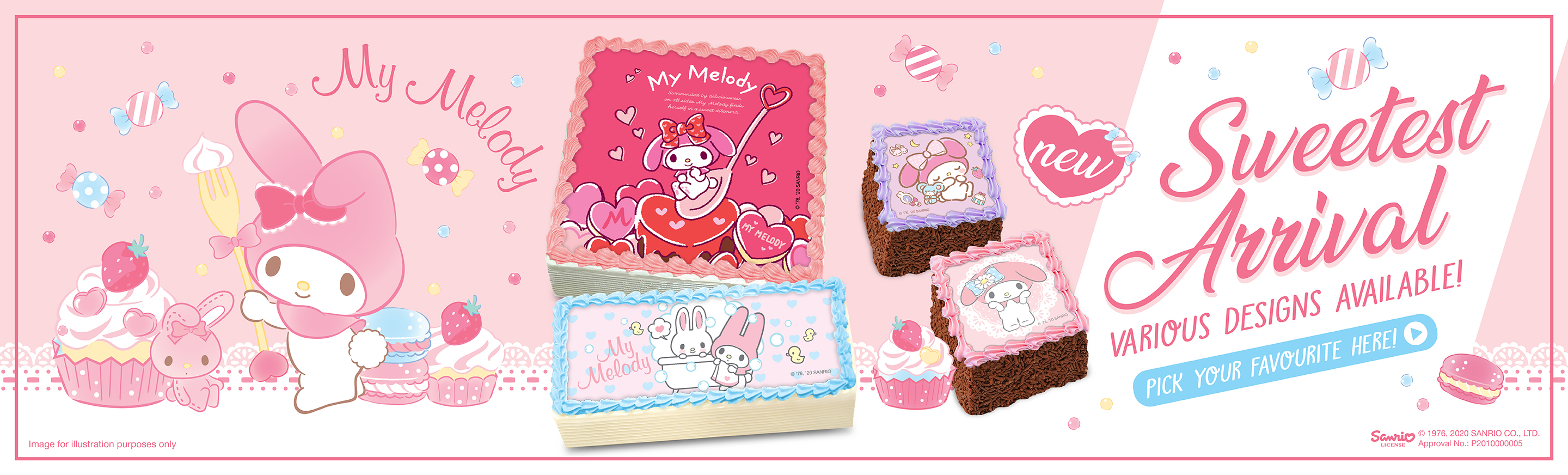 My Melody Character Cakes