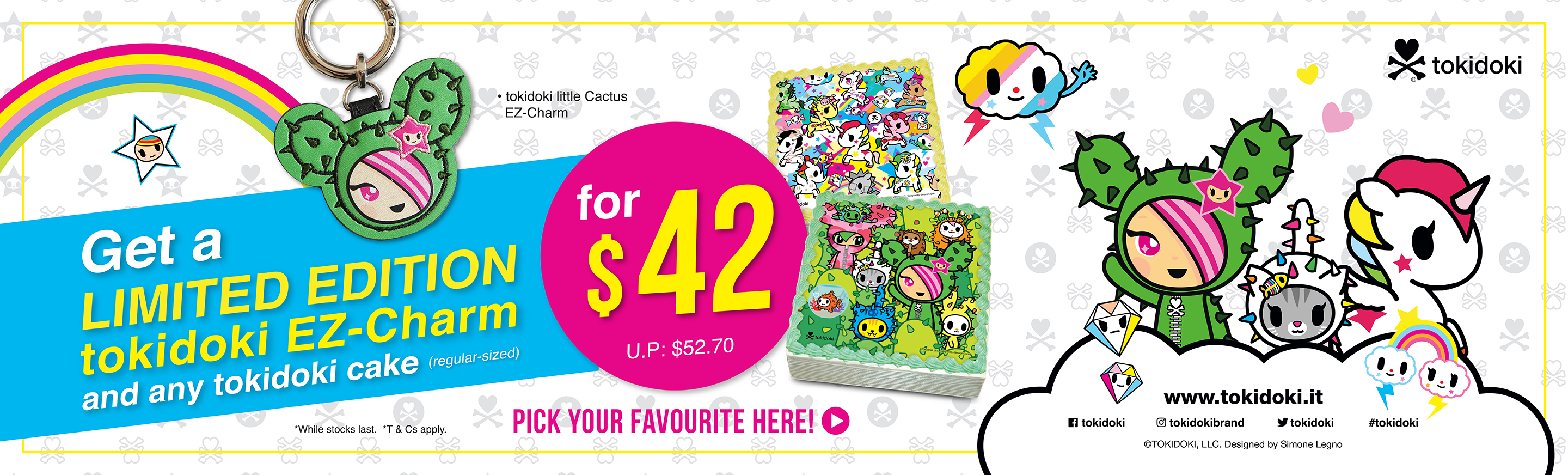 Limited Edition tokidoki EZ-Charm